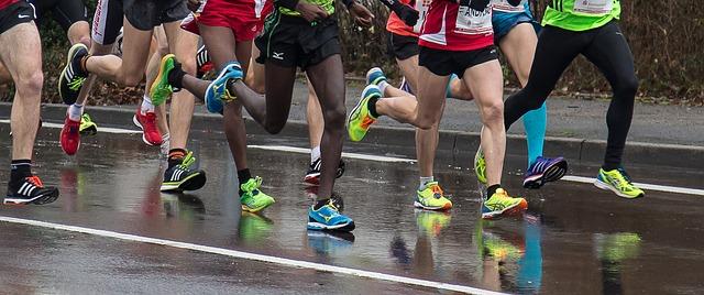 ランナー達の脚