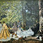 プーシキン美術館展、「草上の昼食」と「パリ環状鉄道の煙」が素晴らしかった。
